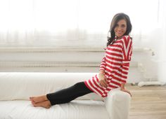 Dottie Couture Boutique - Striped Tunic- Red, $24.00 (http://www.dottiecouture.com/striped-tunic-red/)