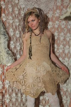 made on order in your size  unique OOAK tan beige by linusmanus, €200.00
