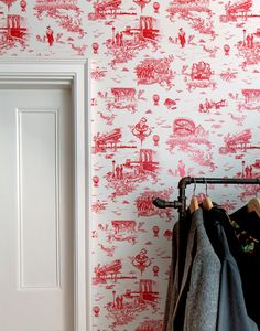 Mike D. designed Brooklyn Toile wallpaper