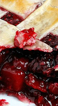 Cranberry and Mixed Berry Pie