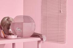 Pink Monochromatic Sceneries: