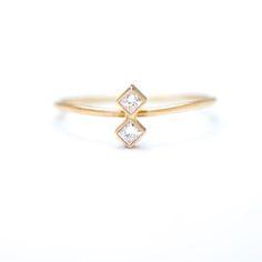 double diamond stack ring
