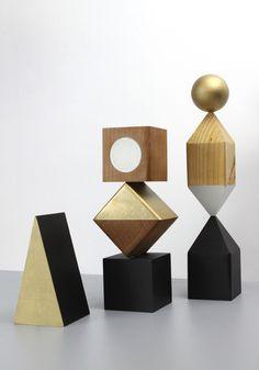 Objekts: A Collection of Modular, Geometric Wooden Sculptures - Design Milk Geometric Sculpture, Wood Sculpture, Geometric Graphic, Geometric Shapes, Statues, Milk Shop, Artistic Installation, Math Art, Art For Art Sake