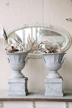 Mirrored Background ~ Urns & Antlers...