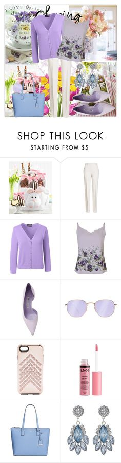 """Easter Morning"" by krystalkm-7 ❤ liked on Polyvore featuring Mrs. Prindable's, Jil Sander, Lands' End, Ted Baker, Manolo Blahnik, Ray-Ban, Rebecca Minkoff, Charlotte Russe and Kate Spade"