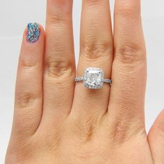 2.48 CT F/SI1 Cushion Cut Diamond Engagement Ring by Brillianteers $4,589.90