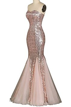 Dreamdress Women's Mermaid Party Dress Prom Sequins Formal Gown