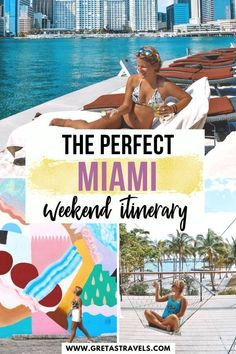 The Perfect Miami Weekend Itinerary. Find out the best things to do in Miami on a long weekend. Including a cycling tour of Wynwood, an Art Deco walking tour of South Beach, visits to the Frost Science and PAMM art museums and much more! #miami #bestofmiami #florida #weekendinmiami #miamitips #traveladvice #miamitraveladvice #traveltips Florida Vacation, Florida Travel, Travel Usa, Canada Travel, Weekend In Miami, Long Weekend, Travel Guides, Travel Tips, Travel Destinations