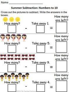 math worksheet : summer addition  subtraction within 5  subtraction worksheets  : Using Addition To Subtract Worksheets