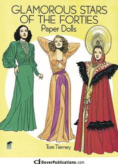 Glamorous Stars of the Forties Paper Dolls