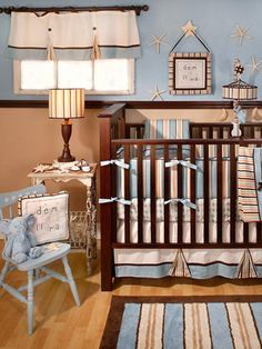 Color scheme - brown, light blue, off-white