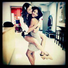 Vampire Diaries Season 6: Nina Dobrev and Kat Graham Reunite! (PHOTO)