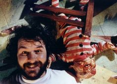 Peter Jackson with Baby Selwyn from Braindead | Rare and beautiful celebrity photos