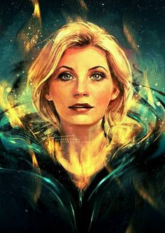 Doctor Who comic cover - Thirteenth Doctor Doctor Who Fan Art, Bbc Doctor Who, 13th Doctor, Eleventh Doctor, Dr Who, Tardis, Akira, Serie Doctor, The New Doctor