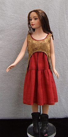 River Tam firefly serenity  free sewing pattern for barbie dolls - ooak doll
