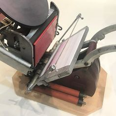 FOR SALE: Beautiful #AdanaPress 8x5 with precision mounting base quoins and new rollers. Make a sensible offer - first come first served. info@peopleofprint.com #printspotters