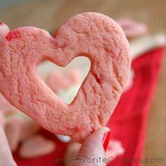 cherry cookies with vanilla dip