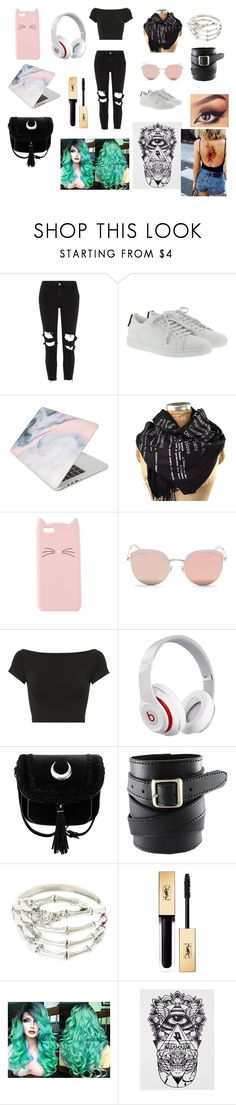 """yeah"" by nekogirl13 on Polyvore featuring River Island, Yves Saint Laurent, Recover, Charlotte Russe, Stephane + Christian, Helmut Lang and Beats by Dr. Dre"