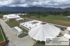 """✨ 👍 Finaliste #CEMEXBuildingAward : #Complexe """"Technical Institute for Training and Productivity"""" à #Salamá au #Guatemala (Ing. David Lepe Cervantes). [Image : © Departamento de Diseño e Infraestructura del Instituto Técnico de Capacitación y Productividad]. 👍 ✨   ••••••••••••••••••••••••••••••••••••  #maison #rénovation #décoration #architecture #jardin #habitat #réaménagement #gravier #grave #BTP #industrie #travaux #design #construction #granulats #bétons #bricolage #amazing #bâtiment"""