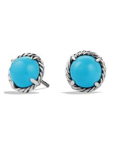 Chatelaine Earrings with Simulated Turquoise
