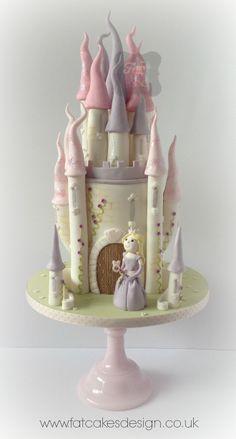 Dreamy princess castle cake for a little princess..