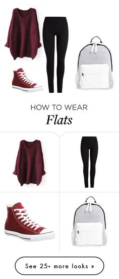 """""""Untitled #349"""" by luka1207 on Polyvore featuring Converse and Poverty Flats"""