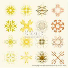 다양한 스타일의 부드러운 문양 세트. 오리지널 패턴과 문양 시리즈. (BPTD020216) Various styles of Soft emblem Sets. Original Pattern and Symbol Series. Copyrightⓒ2000-2014 Boians.com designed by Cho Joo Young.