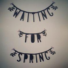 Waiting for spring wordbanner