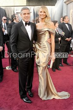 Gorgeous Mermaid Off-shoulder Court Train Evening Dresses Inspired by Stacy Keibler at 84th OSCAR