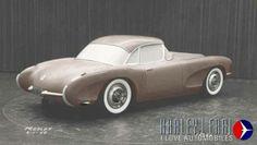 Corvette clay model 1955