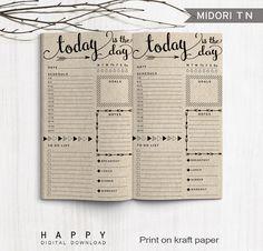 Journal de balle planificateur quotidien par HappyDigitalDownload