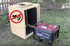 This article will teach you how to build a DIY soundproof enclosure for a generator. Building a generator quiet box can also be used for an air compressor. You will need some TMS Mass Loaded Vinyl medium density fiberboard GreenGlue compound and sealant. Diy Generator, Portable Generator, Power Generator, Generator For Home, Silent Generator, Wood Projects, Woodworking Projects, Woodworking Plans, Outdoor Projects
