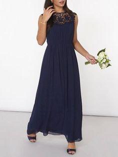 Dorothy Perkins Showcase navy lila corded maxi dress | Debenhams