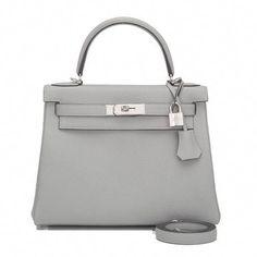 Hermes Gris Mouette Togo Retourne Kelly 28cm Palladium Hardware   Hermeshandbags d1bbebe31c89a