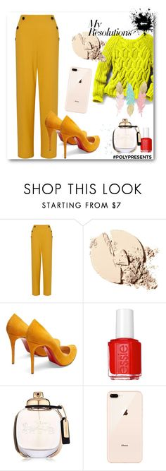 """#PolyPresents: New Year's Resolutions"" by monika-85 on Polyvore featuring moda, Miss Selfridge, Christian Louboutin, Essie, Coach, Pink Mint, contestentry i polyPresents"