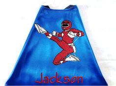 Kid's+Cape++Embroidered+Power+Ranger+by+RidgeTopEmbroidery+on+Etsy,+$28.00