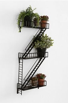 Fire Escape Wall Shelf. So funny!