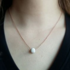 Essential Oil Diffuser Necklace 18k Rose by DownthePathNaturals
