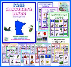 FREE MN bingo game and printable for making a log cabin craft, educational blog post
