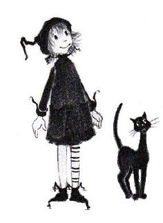 """""""Dorrie the little witch and Gink the black cat."""" - I loved this book when I was little. :) It was one of the first few books I remember reading to myself."""