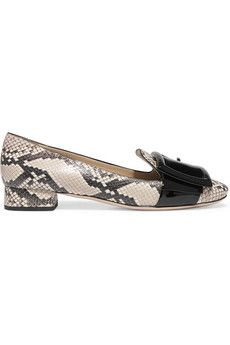 Watersnake and patent-leather pumps