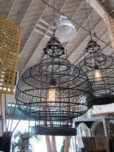 Iron Work Vintage Lantern by DesignMIXFurniture on Etsy, Vintage Lanterns, Candle Chandelier, L And Light, Iron Work, Bird Cages, Oil Lamps, Interior Lighting, Light Fixtures, Living Spaces