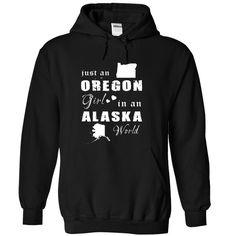 (Top Tshirt Sale) OREGON GIRL IN ALASKA at Guys Tshirt-Lady Tshirt Hoodies, Funny Tee Shirts
