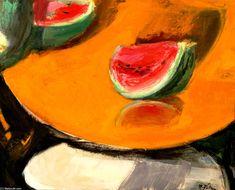 Still Life - Panayiotis Tetsis Greece Painting, Mediterranean Art, Street Art, Modern Art Paintings, Post Impressionism, Art Database, Artist Art, Love Art, Art Day
