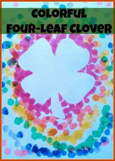 Colorful Four-leaf Clover