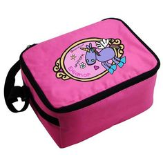 Personalised Pink Lunch Bag - Bang on the Door Unicorn