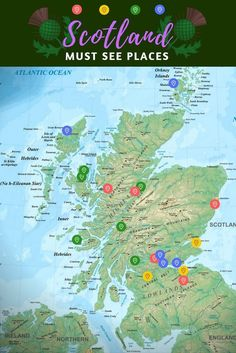 Your free ultimate must see Scottish list when planning the first trip to Scotland. Don't miss out on those iconic Scottish landmarks.