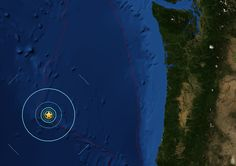 Seven earthquakes strike off Oregon coast in less than a day