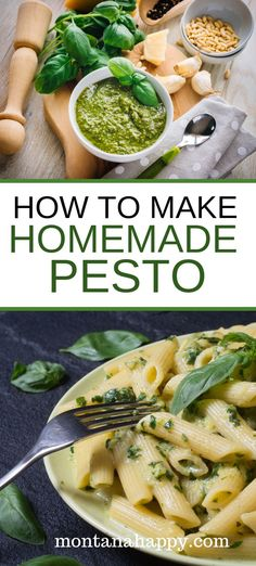 How to Make Homemade Basil Pesto will show you the easy steps on making your own recipe.  This healthy sauce is the perfect addition to your favorite dishes.  #homemadepesto #homemadepestorecipe #homemadepestosauce #pestorecipe #pesto