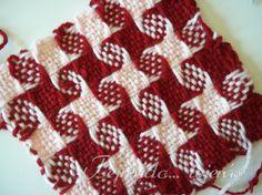 tejiendotejerasblog.wordpress.com Loom Knitting, Knitting Needles, Loom Weaving, 4th Of July Wreath, Crochet Hooks, Needlework, Diy And Crafts, Blanket, Holiday Decor